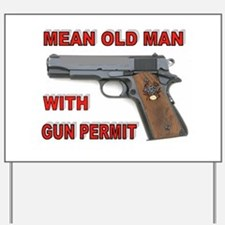GUN PERMIT Yard Sign