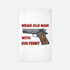 GUN PERMIT 3'x5' Area Rug