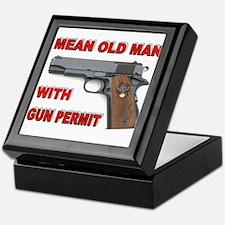 GUN PERMIT Keepsake Box