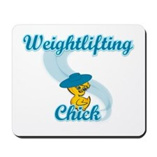 Weightlifting Chick #3 Mousepad