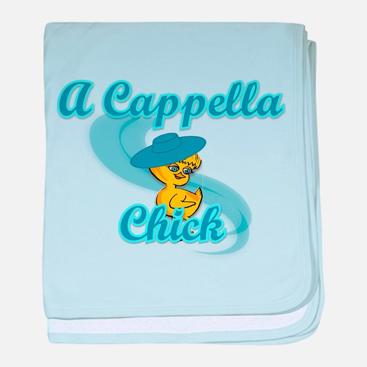 A Cappella Chick #3 baby blanket