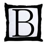Greek Letter Beta Throw Pillow