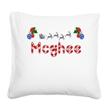 Mcghee, Christmas Square Canvas Pillow