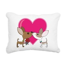 chihuahua love.png Rectangular Canvas Pillow