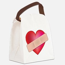 heart bandaid.png Canvas Lunch Bag