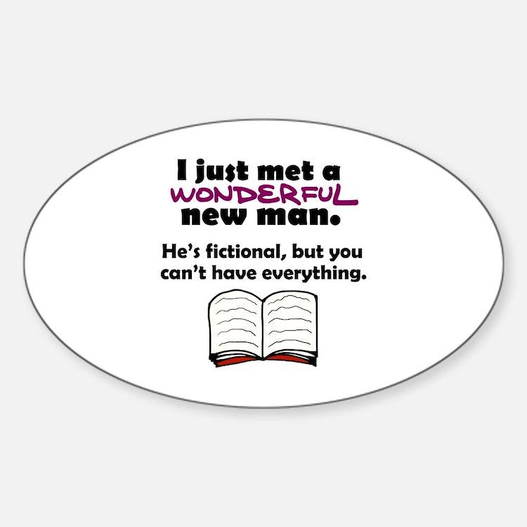 'Fictional Man' Sticker (Oval)