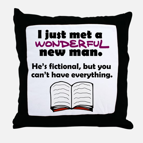 'Fictional Man' Throw Pillow