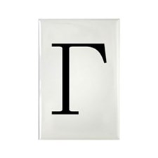 Greek Letter Gamma Rectangle Magnet (100 pack)