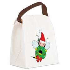 Bee Christmas Canvas Lunch Bag