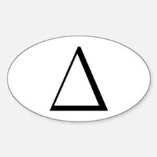 Greek Letter Delta Oval Decal