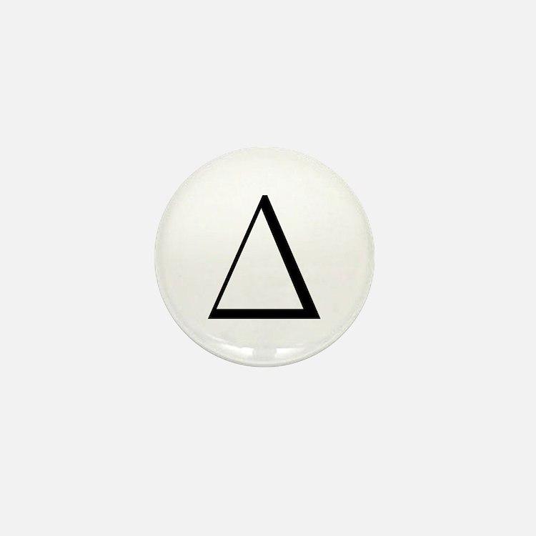 Greek Letter Delta Mini Button