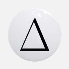 Greek Letter Delta Ornament (Round)