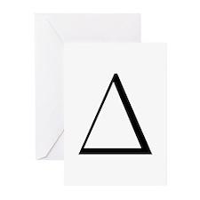 Greek Letter Delta Greeting Cards (Pk of 10)