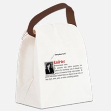 knitter_definition.jpg Canvas Lunch Bag