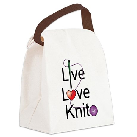 live_love_knit.png Canvas Lunch Bag