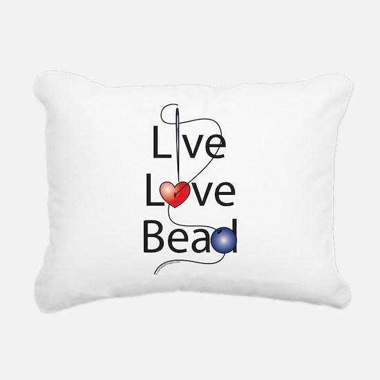 live_love_bead_.png Rectangular Canvas Pillow