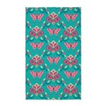 Butterfly Teal 3'x5' Area Rug