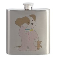 Cute Puppy Pajamas Flask