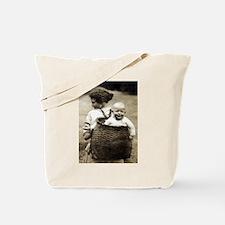 Adirondack Woman With Pack Basket Tote Bag