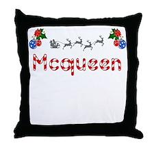 Mcqueen, Christmas Throw Pillow