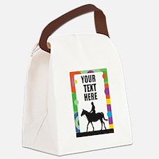 Horse Border Canvas Lunch Bag