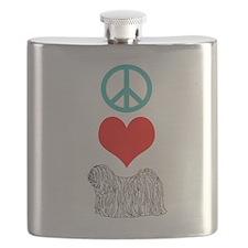 Peace Love Puli Flask