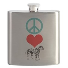 Peace Love Dalmatian Flask