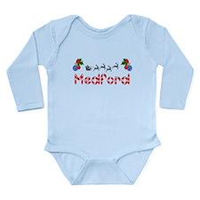 Medford, Christmas Long Sleeve Infant Bodysuit