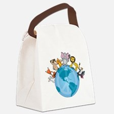 peace on earth animals 200.png Canvas Lunch Bag
