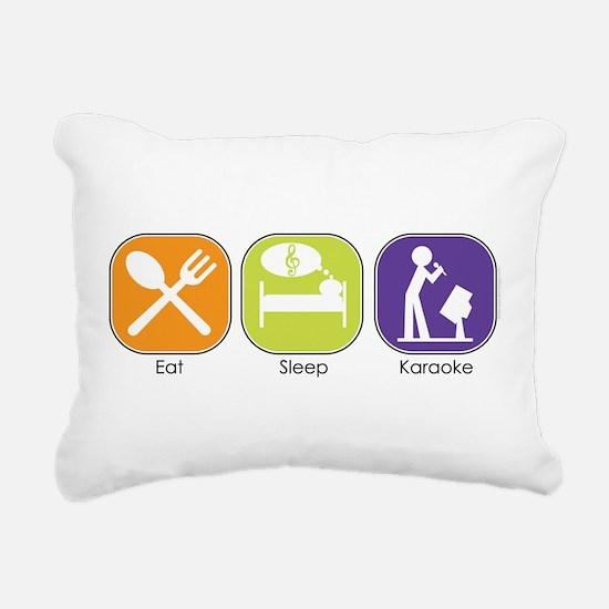 eat_sleep_karaoke.jpg Rectangular Canvas Pillow