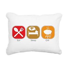eat_sleep_grill.jpg Rectangular Canvas Pillow