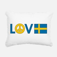 love peace sweden.png Rectangular Canvas Pillow
