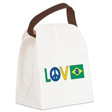 love peace brazil.png Canvas Lunch Bag