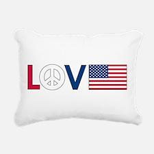 love peace america.png Rectangular Canvas Pillow