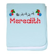 Meredith, Christmas baby blanket