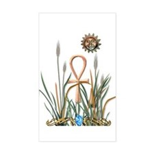 Nature's Ankh Rectangle Decal