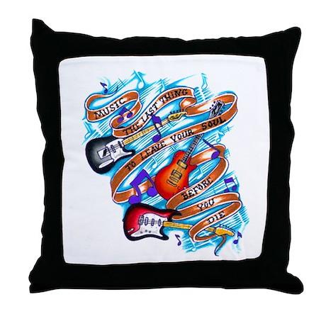 Musician's Life Throw Pillow
