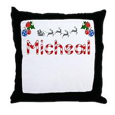 Micheal, Christmas Throw Pillow