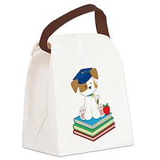 Cute Puppy Graduate Canvas Lunch Bag
