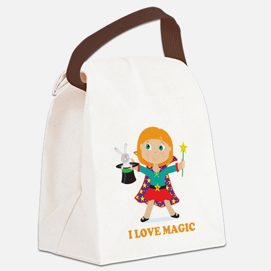 Girl Magician Canvas Lunch Bag