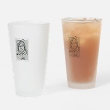 Old Lady Drinking Glass