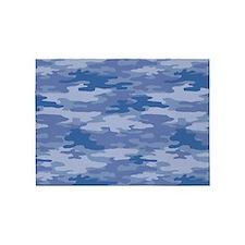 Camo Blue 5'x7'Area Rug