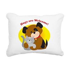 hugs_welcome.jpg Rectangular Canvas Pillow