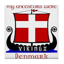 Danish Viking Ancestors Tile Coaster