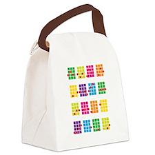 Uke Chords Colourful Canvas Lunch Bag