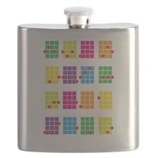 Uke Chords Colourful Flask
