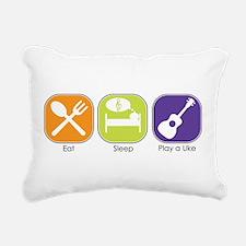 Eat_Sleep_Play Uke Rectangular Canvas Pillow
