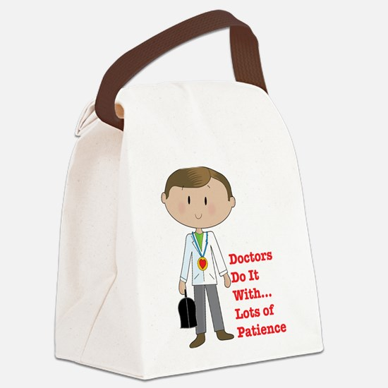 doctor pod.png Canvas Lunch Bag