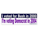 Bushies for Democrats Bumper Sticker