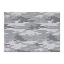 Camo Grey 5'x7'Area Rug